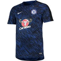 Chelsea Squad Pre Match Training Top - Dk Blue