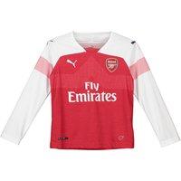 Arsenal Home Shirt 2018-19 - Kids - Long Sleeve