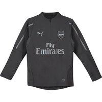 Arsenal 1/4 Zip Training Top - Grey - Kids