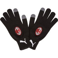 Ac Milan Knitted Gloves - Black