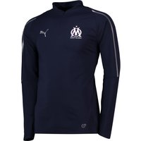 Olympique de Marseille 1/4 Zip Training Top - Dark Blue