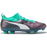 Puma One 3 Leather Firm Ground Football Boots - Blue