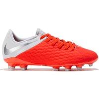 Nike Hypervenom Phantom 3 Academy Firm Ground Football Boots - Grey - Kids