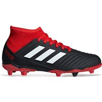 adidas Predator 18.3 Firm Ground Football Boots - Black - Kids