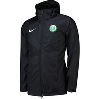 VfL Wolfsburg Training Rain Jacket - Black