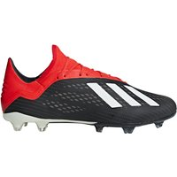 adidas X 18.2 Firm Ground Football Boots - Black
