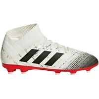 Adidas Nemeziz 18.3 Firm Ground Football Boots - White - Kids