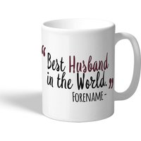 West Ham United Personalised Best Husband In The World Mug