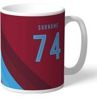West Ham United Personalised Stripe Mug