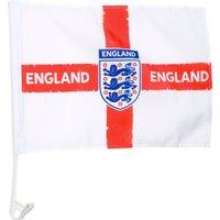 England FA Distressed Crest Car Flag