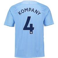Manchester City Home Stadium Shirt 2017-18 with Kompany 4 printing