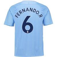 Manchester City Home Stadium Shirt 2017-18 with Fernando. R 6 printing