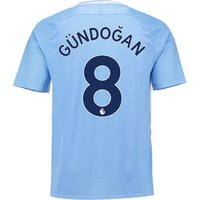 Manchester City Home Stadium Shirt 2017-18 with Gündogan 8 printing