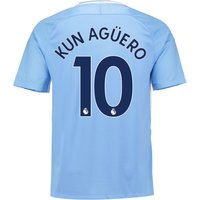 Manchester City Home Stadium Shirt 2017-18 with Kun Agüero  10 printing