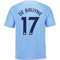 Manchester City Home Stadium Shirt 2017-18 with De Bruyne 17 printing