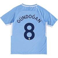 Manchester City Home Stadium Shirt 2017-18 - Kids with Gündogan 8 printing