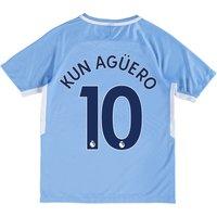 Manchester City Home Stadium Shirt 2017-18 - Kids with Kun Agüero  10 printing