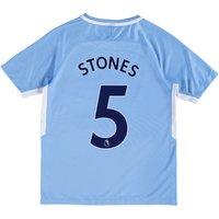Manchester City Home Stadium Shirt 2017-18 - Kids with Stones 5 printing