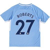Manchester City Home Stadium Shirt 2017-18 - Kids with Roberts 27 printing