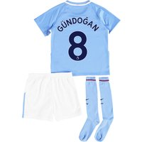 Manchester City Home Stadium Kit 2017-18 - Little Kids with Gündogan 8 printing