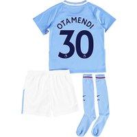 Manchester City Home Stadium Kit 2017-18 - Little Kids with Otamendi 30 printing