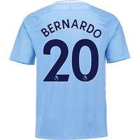 Manchester City Home Stadium Shirt 2017-18 with Bernardo 20 printing