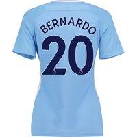 Manchester City Home Stadium Shirt 2017-18 - Womens with Bernardo 20 printing