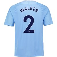 Manchester City Home Stadium Shirt 2017-18 with Walker 2 printing