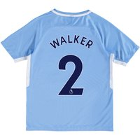 Manchester City Home Stadium Shirt 2017-18 - Kids with Walker 2 printing
