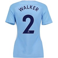 Manchester City Home Stadium Shirt 2017-18 - Womens with Walker 2 printing