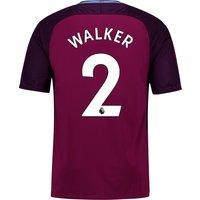 Manchester City Away Stadium Shirt 2017-18 - Kids with Walker 2 printing