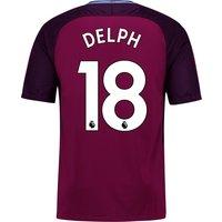 Manchester City Away Stadium Shirt 2017-18 - Kids with Delph 18 printing