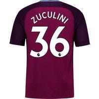 Manchester City Away Stadium Shirt 2017-18 - Kids with Zuculini 36 printing