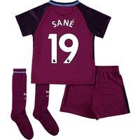 Manchester City Away Stadium Kit 2017-18 - Little Kids with Sané 19 printing
