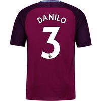 Manchester City Away Stadium Shirt 2017-18 - Kids with Danilo 3 printing
