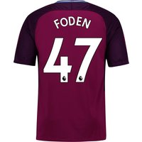 Manchester City Away Stadium Shirt 2017-18 - Kids with Foden 47 printing