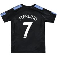 Manchester City Third Stadium Shirt 2017-18 - Kids with Sterling 7 printing