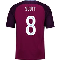 Manchester City Away Stadium Cup Shirt 2017-18 - Kids with Scott 8 printing