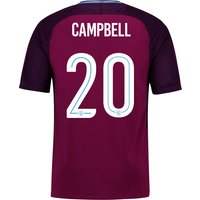 Manchester City Away Stadium Cup Shirt 2017-18 - Kids with Campbell 20 printing