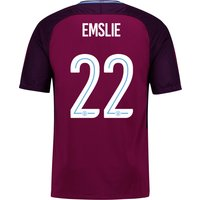 Manchester City Away Stadium Cup Shirt 2017-18 - Kids with Emslie 22 printing