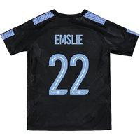 Manchester City Third Stadium Cup Shirt 2017-18 - Kids with Emslie 22 printing