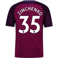 Manchester City Away Stadium Shirt 2017-18 - Kids with Zinchenko 35 printing