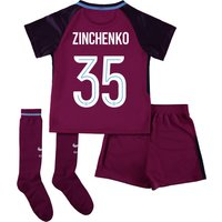 Manchester City Away Cup Stadium Kit 2017-18 - Little Kids with Zinchenko 35 printing