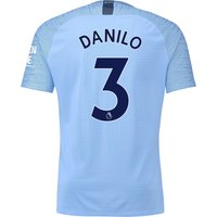 Manchester City Home Vapor Match Shirt 2018-19 with Danilo 3 printing