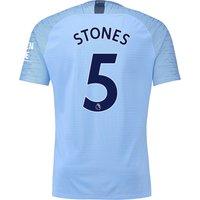 Manchester City Home Vapor Match Shirt 2018-19 with Stones 5 printing