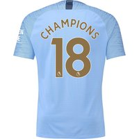 Manchester City Home Vapor Match Shirt 2018-19 with Champions 18 printing
