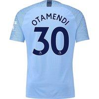Manchester City Home Vapor Match Shirt 2018-19 with Otamendi 30 printing