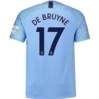 Manchester City Home Stadium Shirt 2018-19 with De Bruyne 17 printing