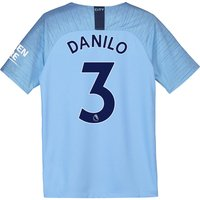 Manchester City Home Stadium Shirt 2018-19 - Kids with Danilo 3 printing