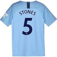 Manchester City Home Stadium Shirt 2018-19 - Kids with Stones 5 printing